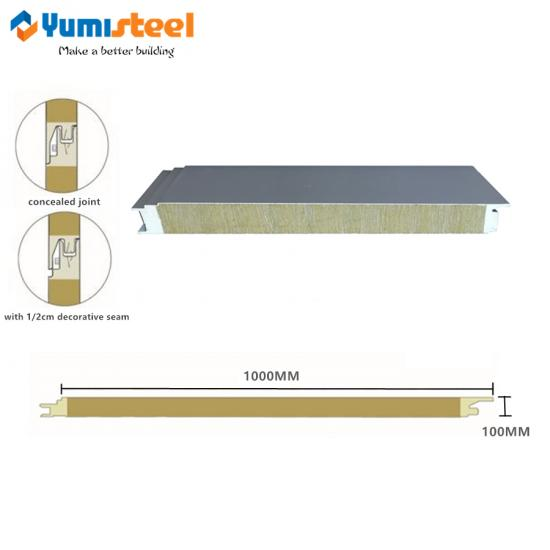structural PU sealing rockwool panel
